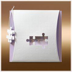 Svatební oznámení puzzle SK211