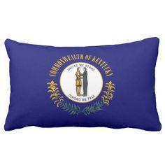 Flag Of Kentucky (USA) Throw Pillow