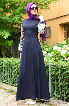 Pınar Akşam Elbise 2478-03 Lacivert