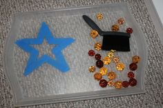 Toddler sweeping! Montessori inspired tot school tray.