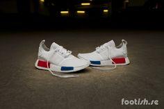 Adidas Original NMD R1 Gum Pack All White Editorial Image