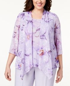 6fd35a90d9 Alfred Dunner Plus Size Roman Holiday Layered-Look Necklace Top   Reviews -  Tops - Plus Sizes - Macy s