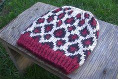 animal print knit pattern | Hand Knit Leopard Print Cheetah Hat