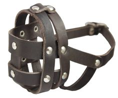 Real Leather Dog Basket Muzzle no.0 Brown - Spaniel, Poodle, Schnauzer (Circumference 8.5', Snout Length 2') *** Check out this great image  : Dog muzzle