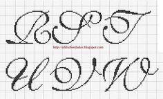 #gráfico ponto cruz #ponto cruz #alfabeto #monograma