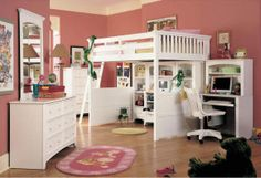Bunk Beds for Teens | Dixie White Loft Bed on Wanelo