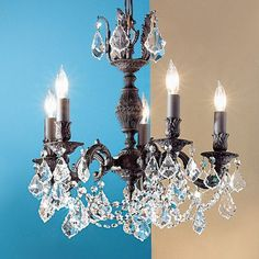 Classic Lighting Chateau Imperial 5 Light Crystal chandelier Finish: Aged Bronze, Crystal Type: Crystalique Golden Teak