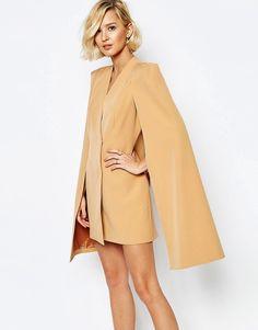 Lavish Alice Split Back Cape Dress Robe Poncho, Robe Crayon, Tailleur,  Manteau, ef82a1c6006e