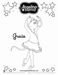 Angelina Ballerina Coloring Pages 6