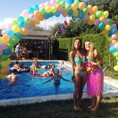 Balloon Arch for my friend's sweet sixteen