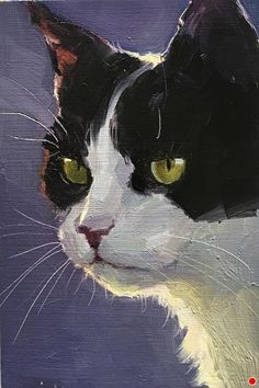 by Katya Minkina Oil ~ 6 x 4 I had a cat that looked like this. Charli… von Katya Minkina Oil ~ 6 x 4 Ich hatte eine Katze, die so aussah. Charlie Batman war sein Name. Cat Drawing, Drawings Of Cats, Beautiful Cats, Beautiful Pictures, Art Sketchbook, Animal Paintings, Dog Art, Pet Portraits, Portrait Paintings