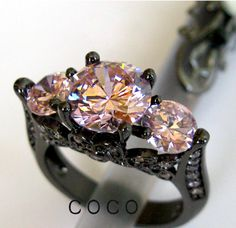 size 6-10 Awesome pink CZ  BGP Ring. Starting at $10 on Tophatter.com!