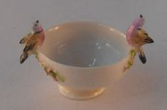 Bird Bowl by Veronique Cornish - $75.00 : Swan House Miniatures, Artisan Miniatures for Dollhouses and Roomboxes