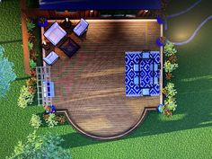 Beautiful rendering of a low level curve deck with bench. 3 D, Michigan, Bench, Layout, Outdoor Decor, Projects, Beautiful, Ideas, Home Decor