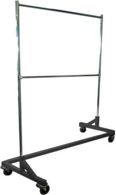 Heavy-Duty Commercial Grade Double-Bar Rolling Z Rack Garment Rack With Nesting Black Base, 2015 Amazon Top Rated Garment Racks #Home