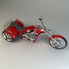 Trike Chopper Model available on Turbo Squid, the world's leading provider of digital models for visualization, films, television, and games. Triumph Motorcycles, Three Wheel Motorcycles, 3 Wheel Motorcycle, Cool Motorcycles, Motorcycle Gear, Harley Davidson Pictures, Harley Davidson Trike, West Coast Choppers, Drift Trike