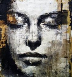 Artist - Max Gasparini and I want this piece - Title: musa Painting, Human figure, Mixed technique, Cardboard, 2011 Graffiti Artwork, Street Art Graffiti, Graffiti Face, Portrait Art, Portraits, Pintura Graffiti, A Level Art, Wow Art, Art Moderne