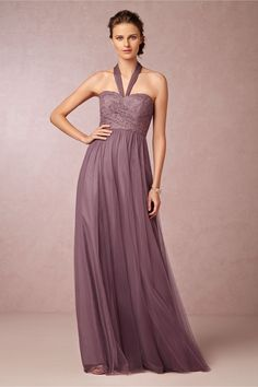 Juliette Dress in soft plum from BHLDN