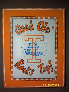 A painting to support my Tennessee Lady Vols basketball team and Coach Pat Summitt! This one is also on a canvas.