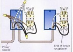 wiring diagram for a row of receptacles multiple receptacles rh pinterest com Split Receptacle Wiring Wiring Receptacles in Series