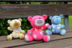 Ya son tres mis ositos.... creo que viene uno mas en camino ^_^  https://www.etsy.com/se-en/listing/212731765/amigurumi-crochet-bear-pattern-in?ref=shop_home_active_2
