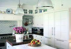 kitchen island light glass - Kitchen inspiration - myLusciousLife.com.jpg