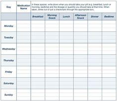 Medication Take To Take Chart Printable Quotes Medic