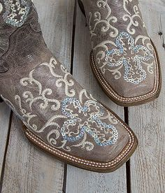 Corral Sequin Square Toe Cowboy Boot