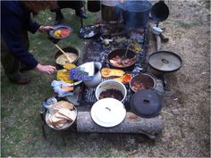 Would love to camp with folks who cook like this! Camp Life by Steven M. Watts -