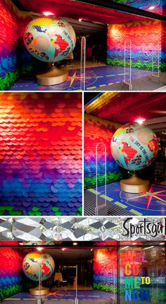 Gloss Creative - Sportsgirl You could do this with sticky notes!!! crazy wonderful idea.