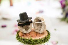 Geode wedding cake topper