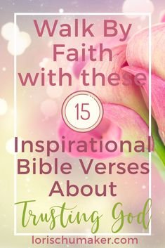 Walk by Faith with Theses 15 Inspirational Bible Verses About Trusting God. I have often turned to in my faith journey. As well as a scripture-based Prayer to Trust God. Encouraging Bible Verses, Scripture Quotes, Verses About Trust, Daily Encouragement, Walk By Faith, Walking By, Christian Living, Trust God, Prayers