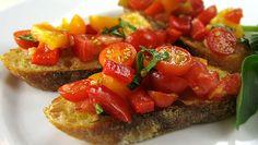 Garlicky Tomato Bruschetta | Dashrecipes.com
