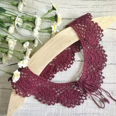 Openwork Collar Handmade Lace Collar Accessory Knitted Collar