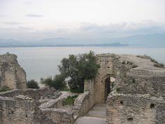 Old Roman ruins, walking distance from Scaliger Castle in Sirmione