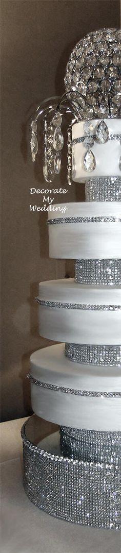 DECORATE MY WEDDING.COM Crystal Wedding Cakes