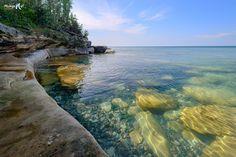 """The secret swimming hole""  Lake Superior near Christmas, Michigan"