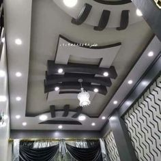 Stylish Modern Ceiling Design Ideas If we think of the ceilings in our homes, so often the first thi Plaster Ceiling Design, Gypsum Ceiling Design, Interior Ceiling Design, House Ceiling Design, Ceiling Design Living Room, Fall Celling Design, Best False Ceiling Designs, False Ceiling For Hall, Simple False Ceiling Design