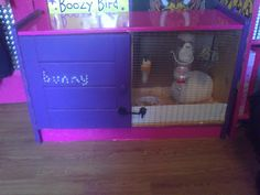 DIY Rabbit cage just need to get a cabinet that I can use to make our bunny its new home :)