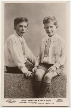 King George V's grandchildren from his only daughter Princess Mary: George Lascelles, the 7th Earl of Harewood (L) and the Hon Gerald Lascelles