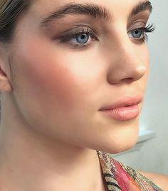 Pinterest: DeborahPraha ♥️ bushy natural brows and natural healthy blush #makeup
