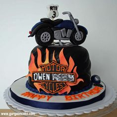 Exclusive Image of Motorcycle Birthday Cakes . Motorcycle Birthday Cakes All Kinds Of Sugar Motorcycle Birthday Cake