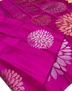 Prema presents new range of Kanjivaram silk saris in our wedding collectives.Each sari is woven in rich zari and embellished with fine silk. It totally deserves to be the family's heirloom! Indian Silk Sarees, Tussar Silk Saree, Wedding Silk Saree, Designer Sarees, Saris, Our Wedding, Presents, Range, Tapestry