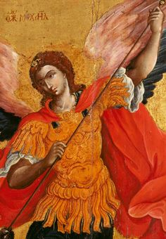 Poulakis Theodoros. Detail from The Archangel Michael, 1650.