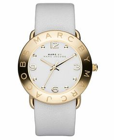 Marc by Marc Jacobs Watch, Women's White Leather Strap MBM1150 - Marc by Marc Jacobs - Jewelry & Watches - Macy's