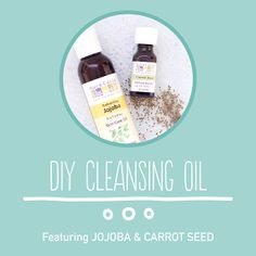 This cleansing oil recipe made with jojoba oil and carrot seed essential oil is what your dry skin needs.