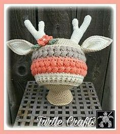 Included are instructions to make this Textured Vintage Deer Hat. Currently I have only tested the 18-24 month size and the 2-5 year old size but the pattern does include instructions for how to make the hat bigger or smaller.