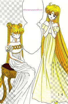 A coloring I did of a panel from one of my personal doujinshi. Here, Princess Serenity has used Sailor Venus' status as her decoy for her personal benefit, using Venus as a stand-in for herself so she can sneak off and go see Prince Endymion. Venus isn't amused :P