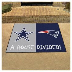"""NFL Dallas Cow/New England Patriots House Divided Rug 33.75""""x42.5"""""""