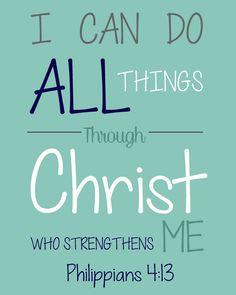 Bible Verses for Children - Free Printable Philippians 4:13 - The ...